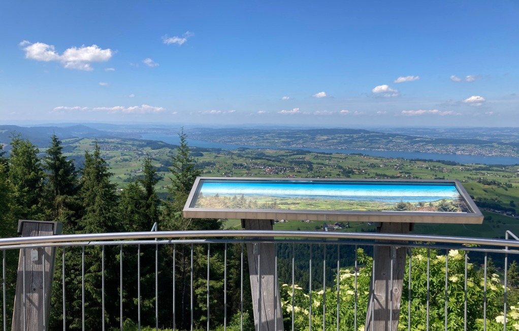 Gottschalkenberg (Bellevue), Blick Richtung Zürichsee